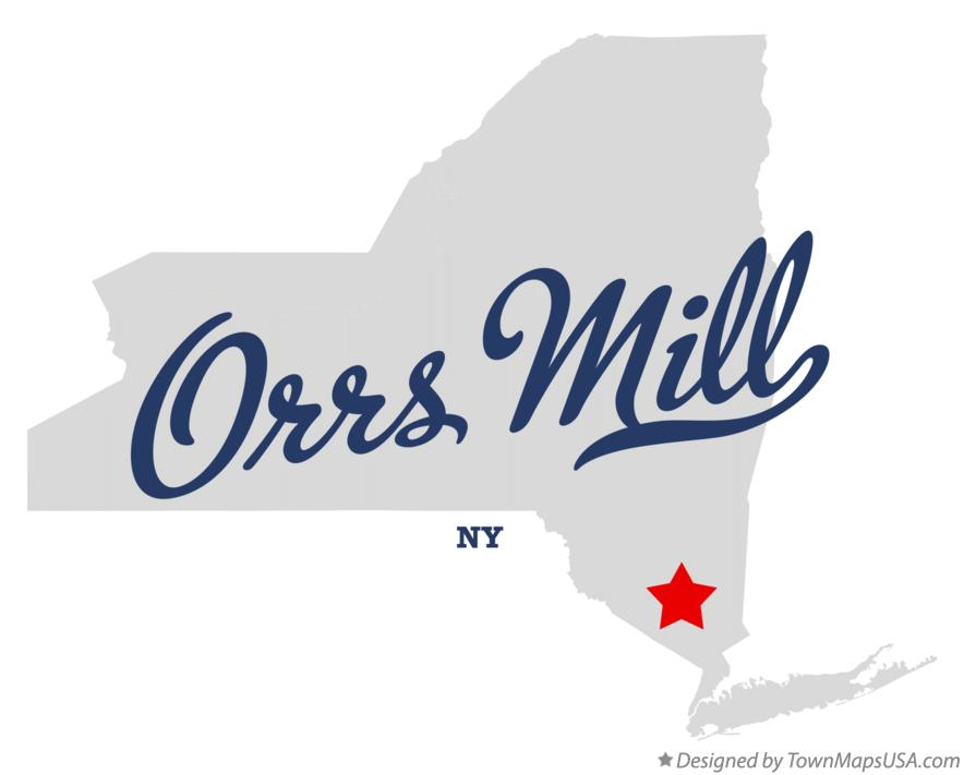 Map of Orrs Mill New York NY