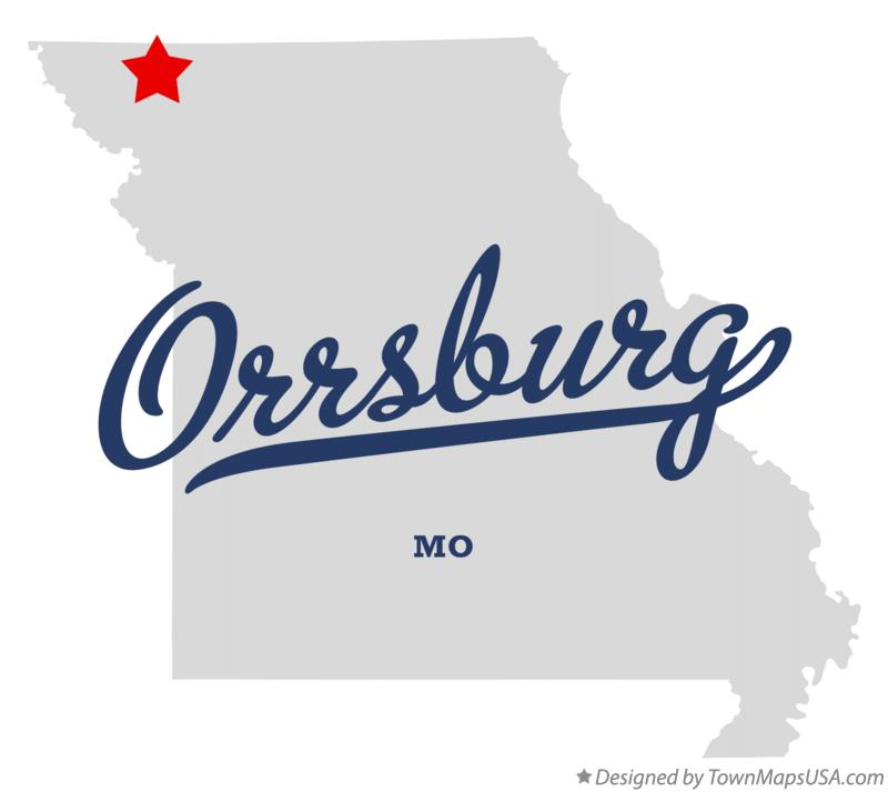 Map of Orrsburg Missouri MO