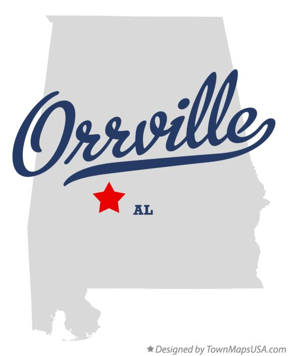 Map of Orrville Alabama AL