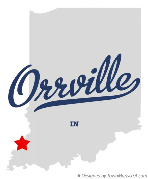Map of Orrville Indiana IN