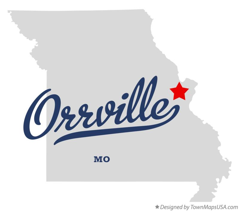 Map of Orrville Missouri MO