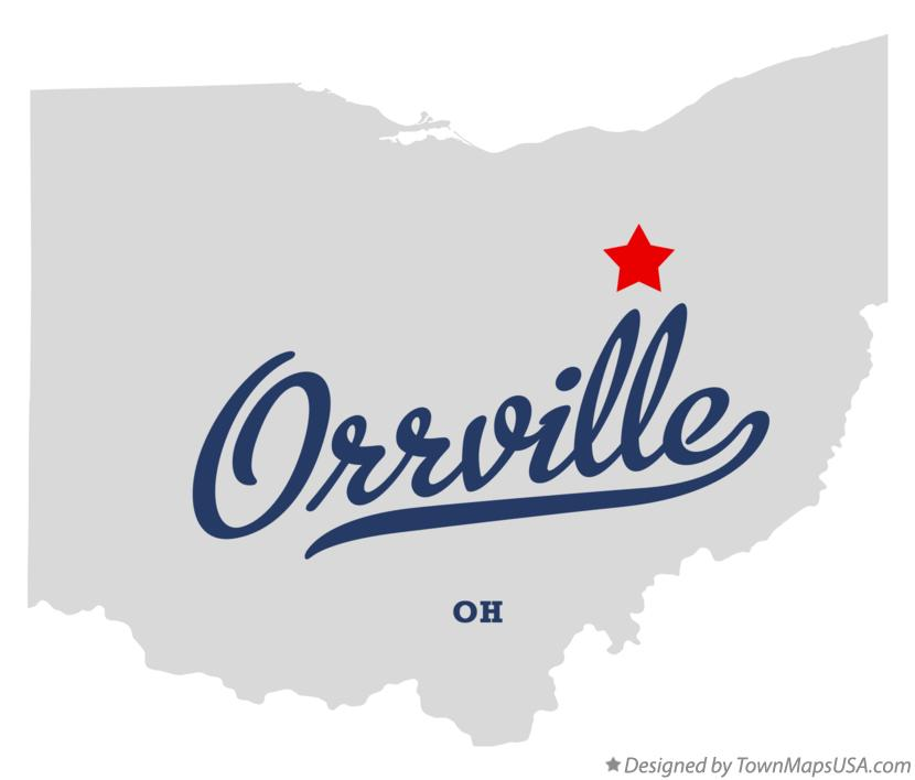 Map of Orrville Ohio OH