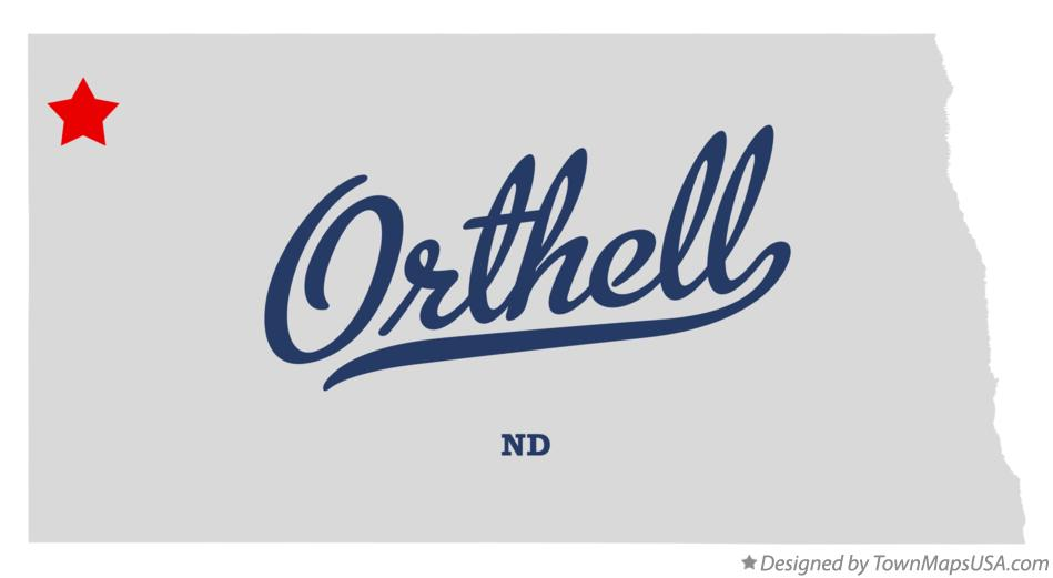 Map of Orthell North Dakota ND
