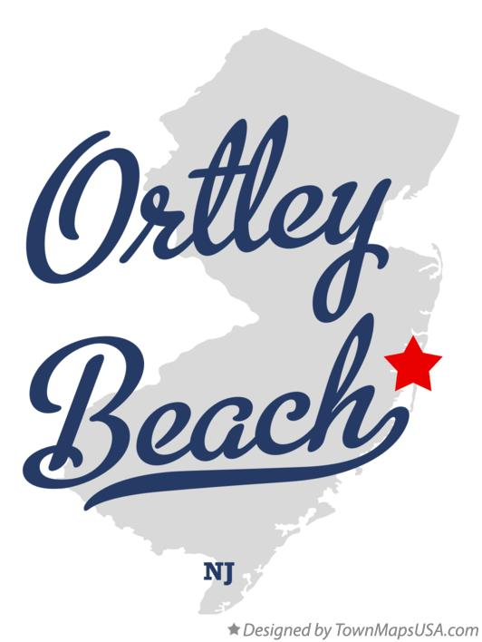 Map of Ortley Beach New Jersey NJ