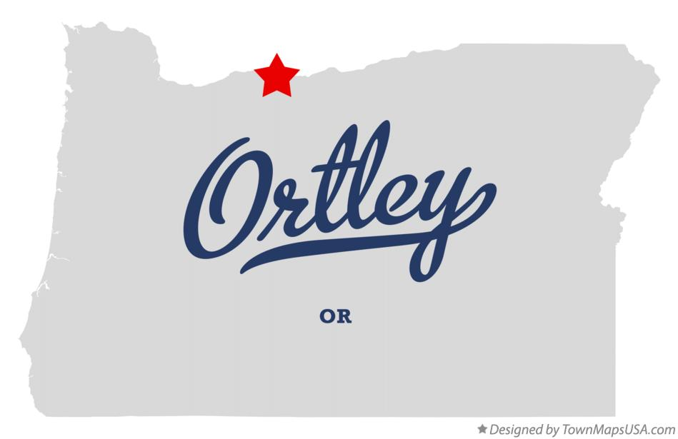 Map of Ortley Oregon OR