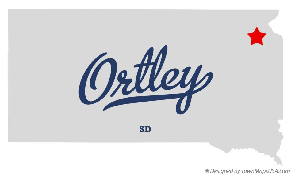Map of Ortley South Dakota SD