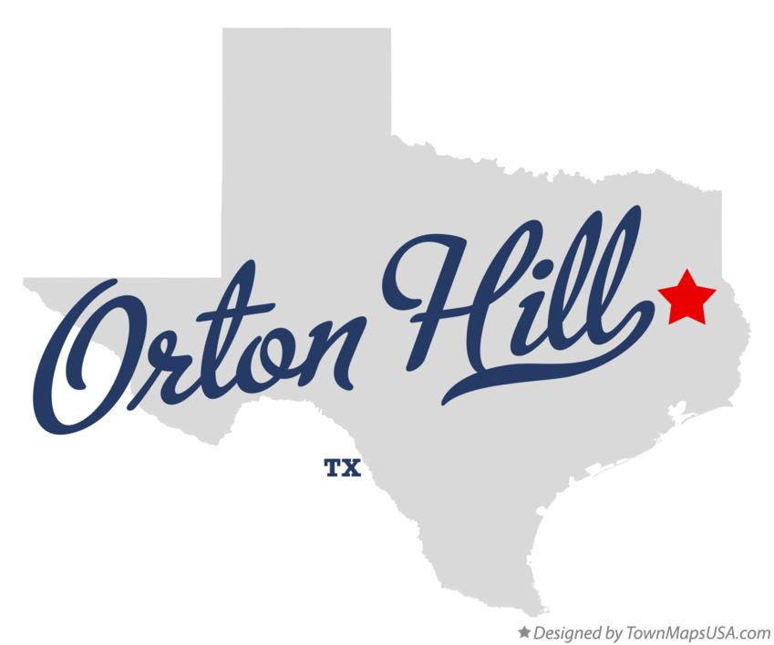 Map of Orton Hill Texas TX