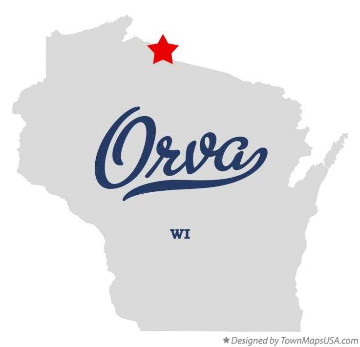 Map of Orva Wisconsin WI