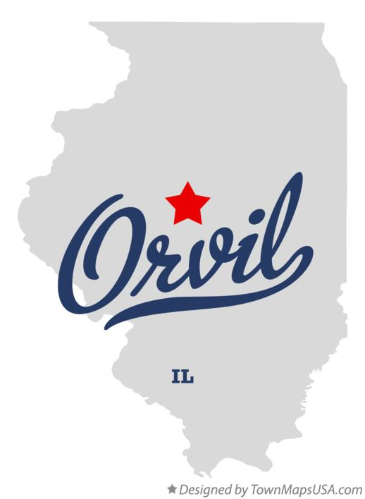 Map of Orvil Illinois IL