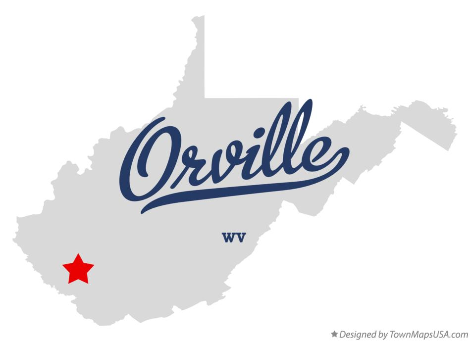 Map of Orville West Virginia WV