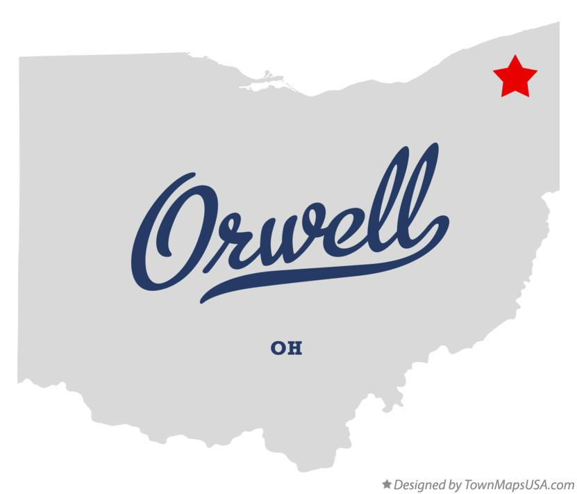 Map of Orwell Ohio OH