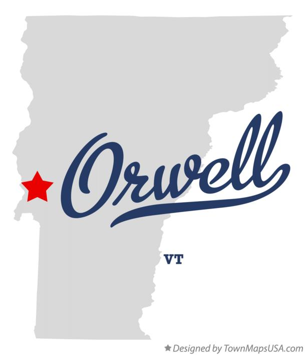 Map of Orwell Vermont VT