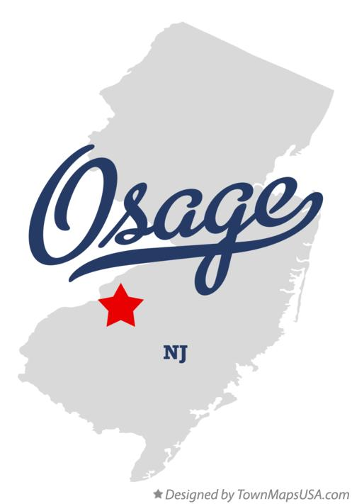 Map of Osage New Jersey NJ