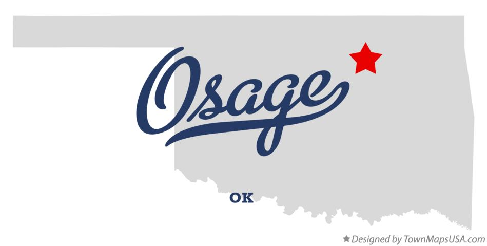 Map of Osage Oklahoma OK
