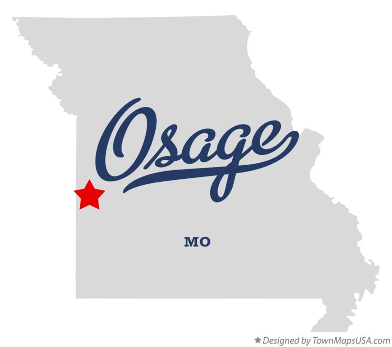 Map of Osage Missouri MO