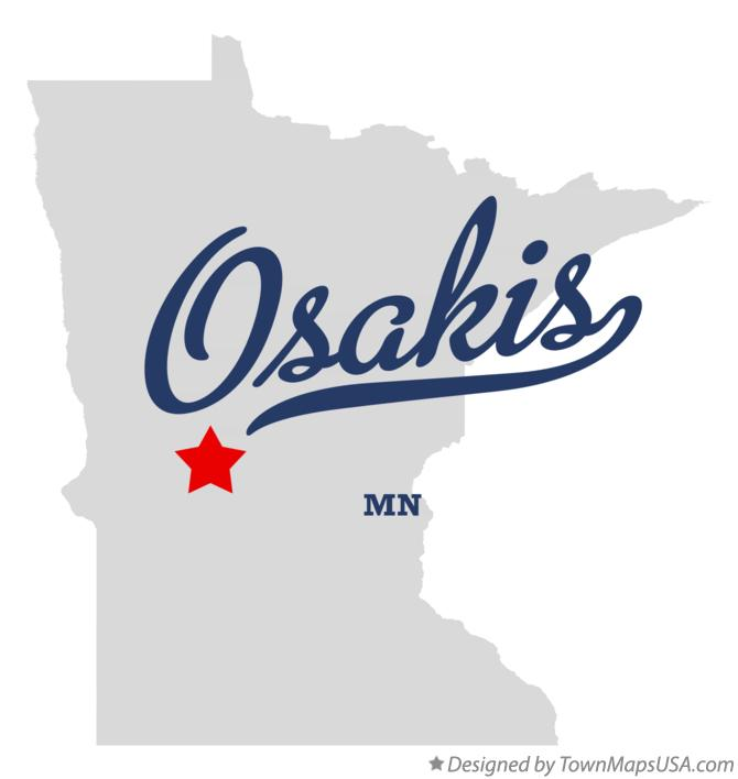 Map of Osakis Minnesota MN