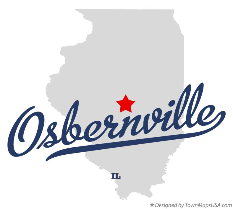 Map of Osbernville Illinois IL