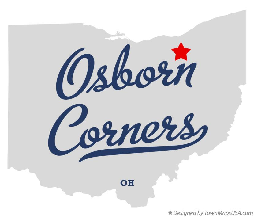 Map of Osborn Corners Ohio OH