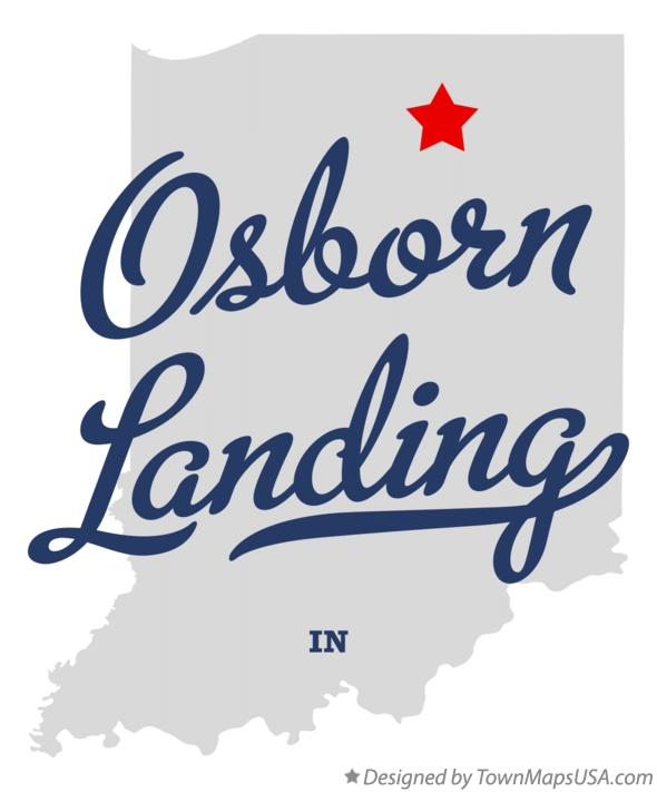 Map of Osborn Landing Indiana IN