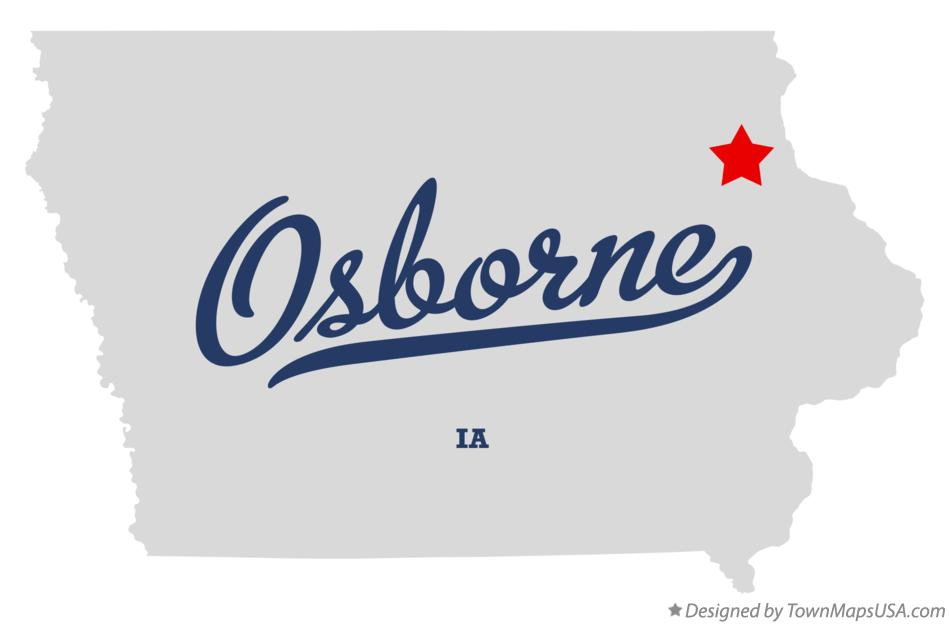 Map of Osborne Iowa IA