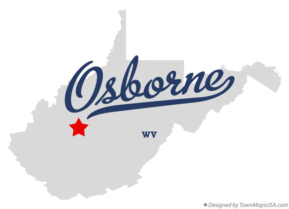 Map of Osborne West Virginia WV