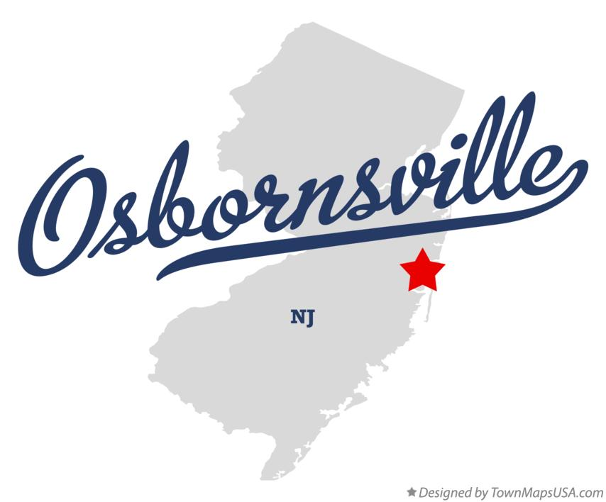 Map of Osbornsville New Jersey NJ