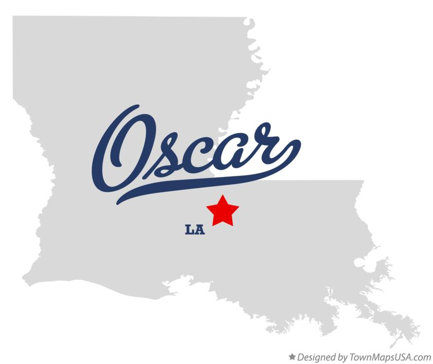 Map of Oscar Louisiana LA