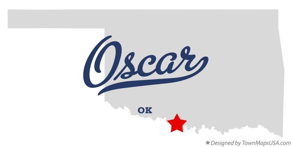 Map of Oscar Oklahoma OK