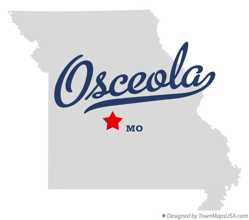 Map of Osceola Missouri MO