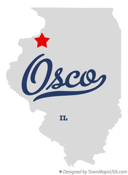 Map of Osco Illinois IL