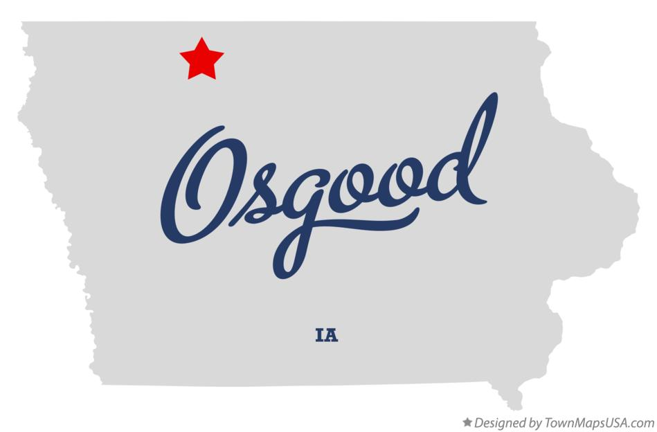 Map of Osgood Iowa IA