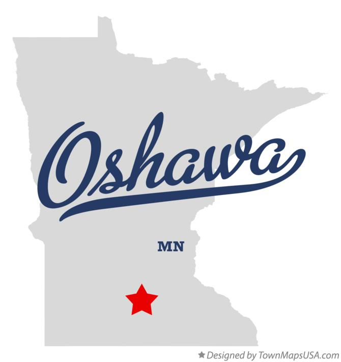 Map of Oshawa Minnesota MN