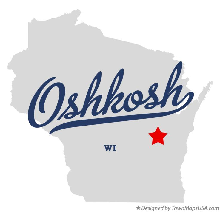 Map of Oshkosh WI Wisconsin