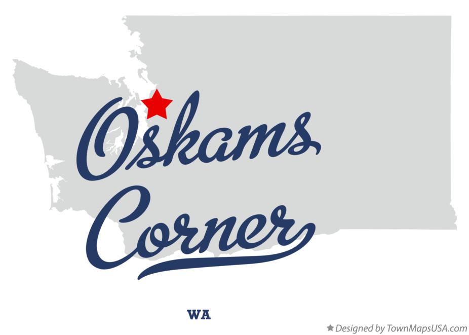 Map of Oskams Corner Washington WA