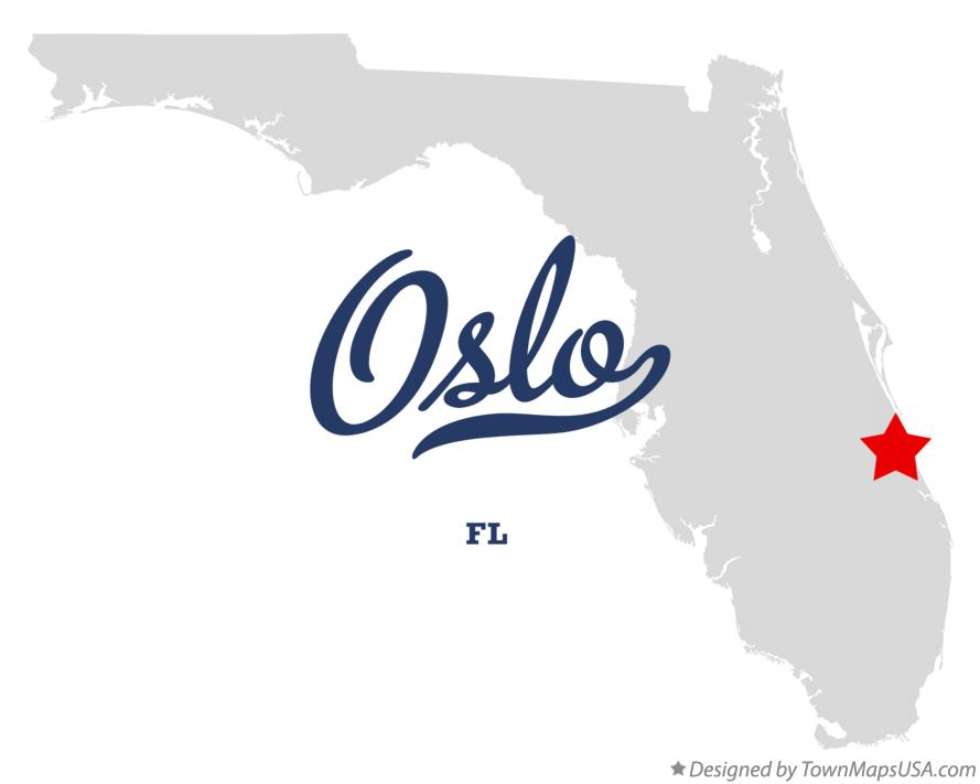 Map of Oslo Florida FL