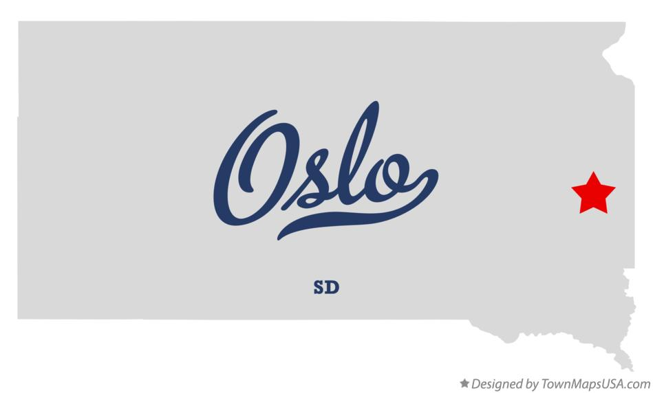 Map of Oslo South Dakota SD