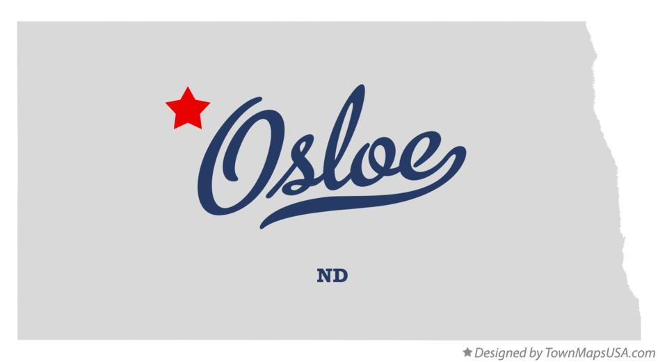 Map of Osloe North Dakota ND