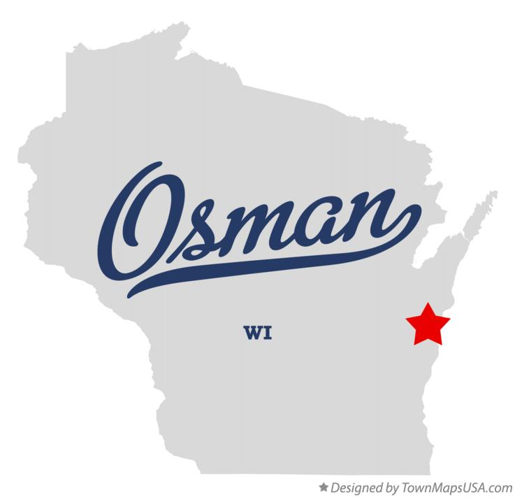 Map of Osman Wisconsin WI