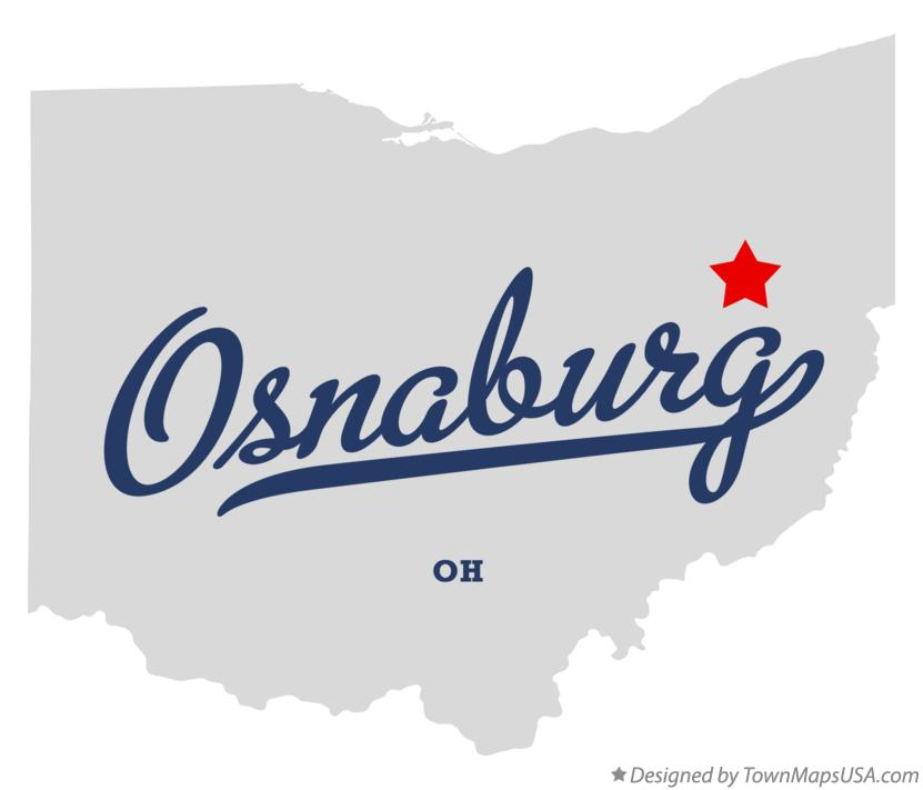 Map of Osnaburg Ohio OH
