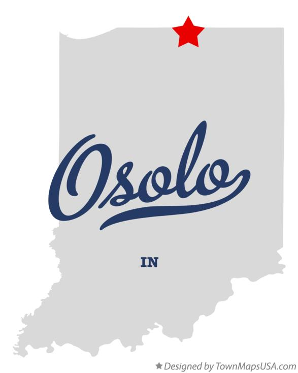 Map of Osolo Indiana IN