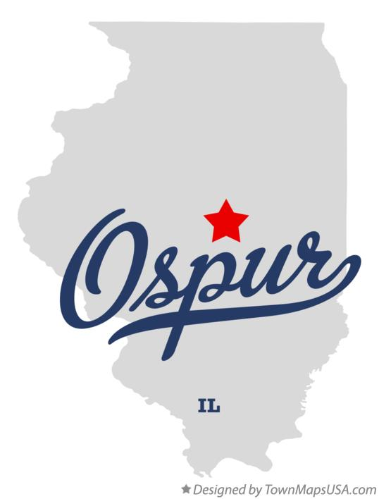 Map of Ospur Illinois IL