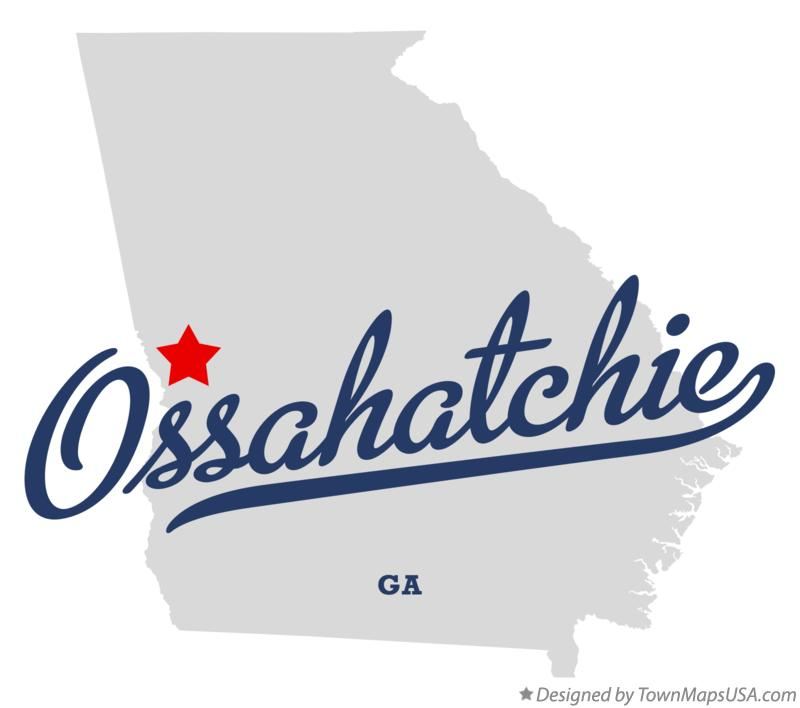 Map of Ossahatchie Georgia GA