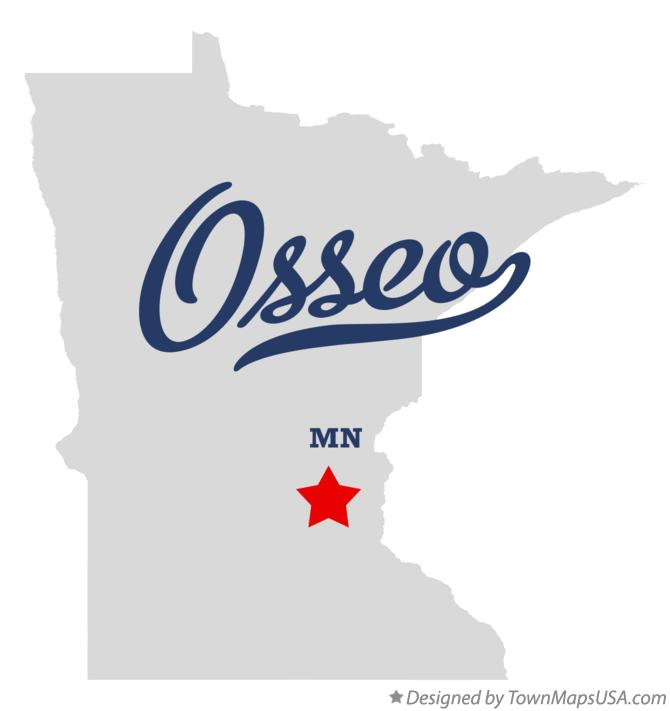 Map of Osseo Minnesota MN