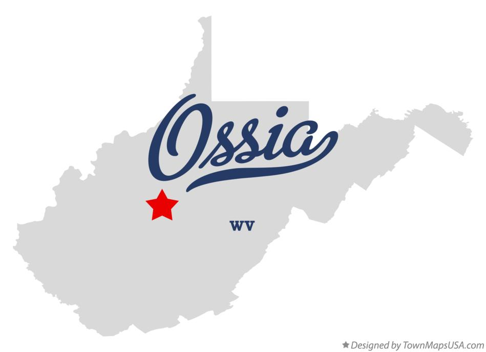 Map of Ossia West Virginia WV