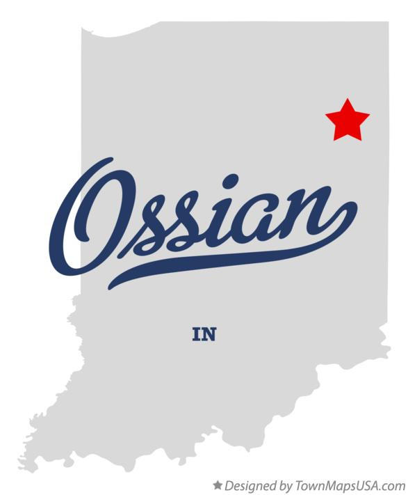 Map of Ossian Indiana IN