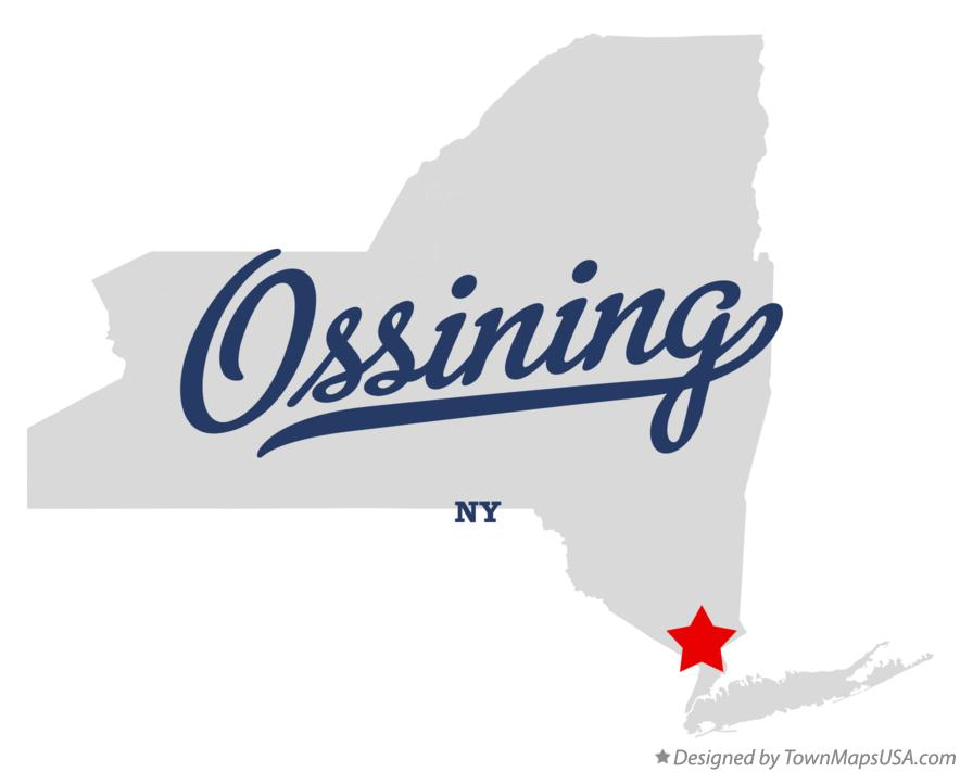 Map of Ossining New York NY