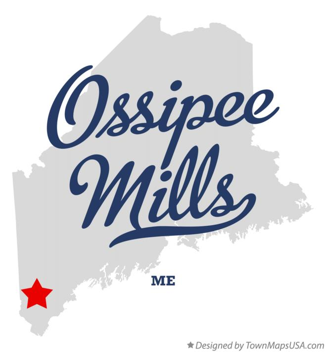 Map of Ossipee Mills Maine ME