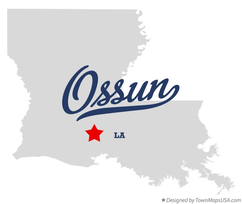 Map of Ossun Louisiana LA