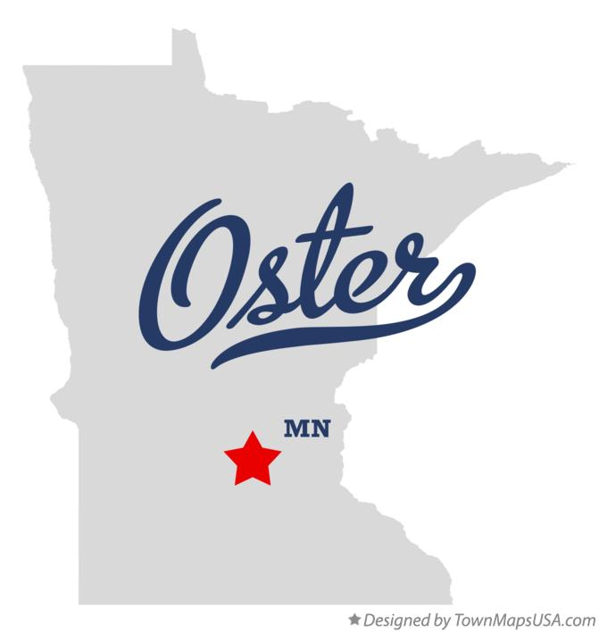 Map of Oster Minnesota MN