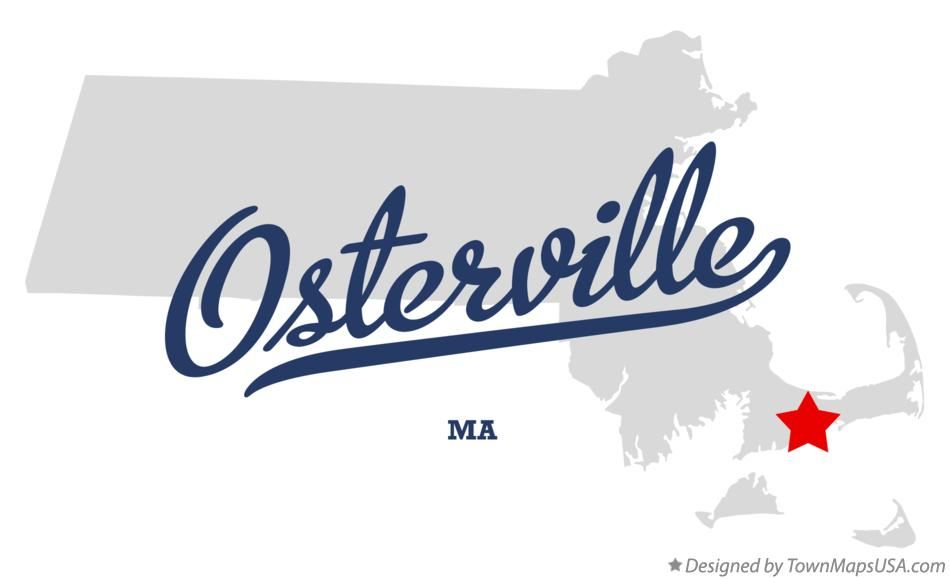 Map of Osterville Massachusetts MA